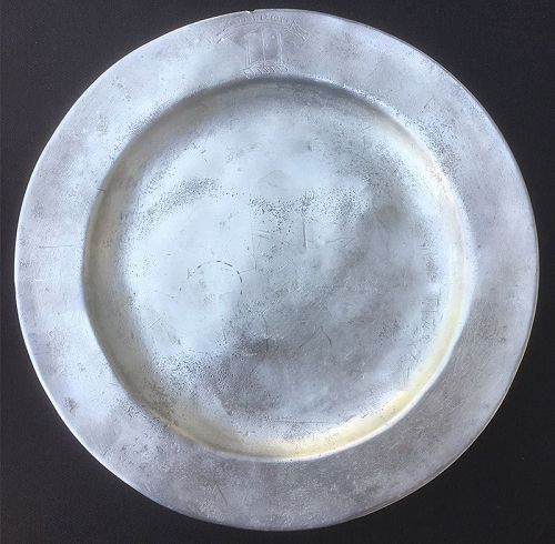 Suum cuique pewter plate, for Scottish Clan Don