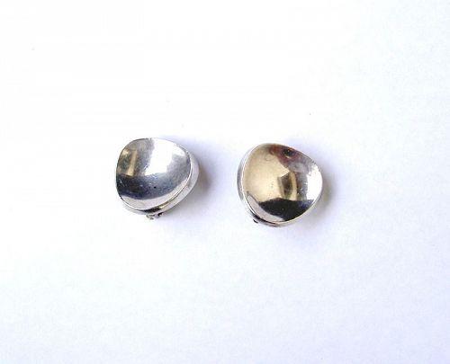 Scandinavian 1960s sterling earrings, clips, by Bent Knudsen
