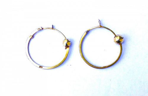 French empire silver gilt earrings