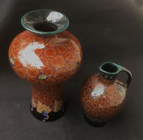 Dutch Gouda vases in the Fredy pattern