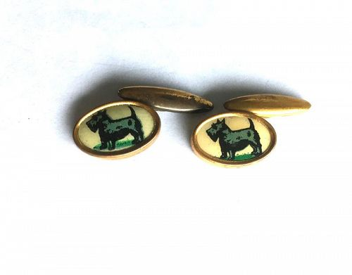 Scottish Terrier gilt cufflinks