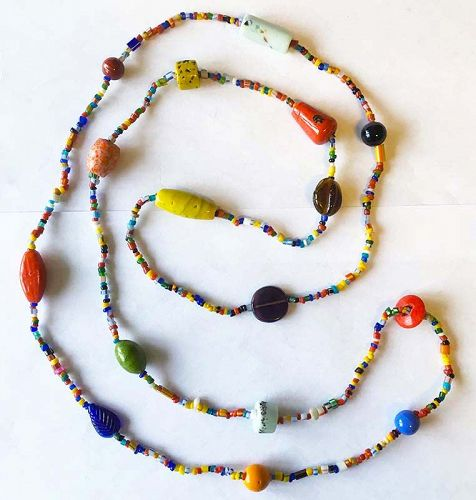Murano beads strand necklace