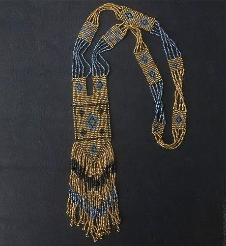 Seed beaded flapper necklace / sautoir, 1920�s