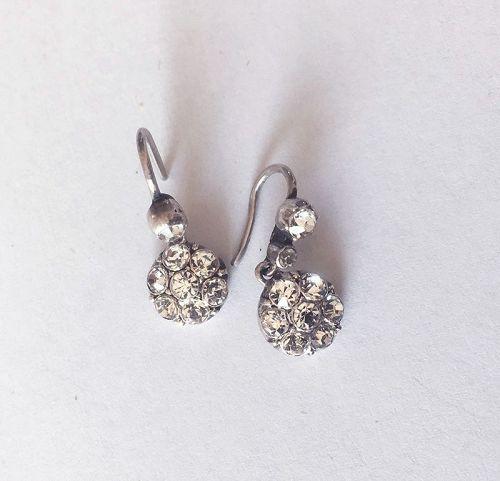 Knoll & Pregizer sterling and rhinestone earrings