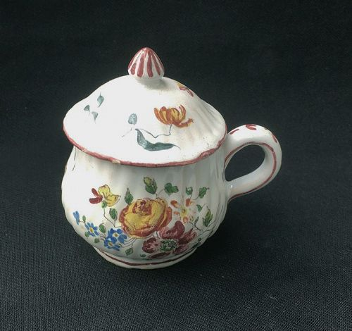 Faience pot de crème / custard cup, Veuve Perrin or Joseph Robert