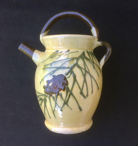 Aegitna / Saltalamacchia faience pitcher, Vallauris, 1930�s