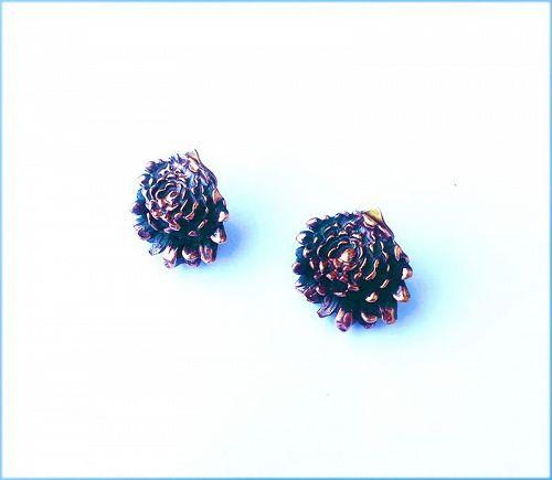 Pentti Sarpaneva bronze clip earrings