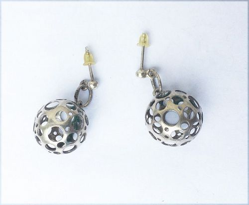 Liisa Vitali, Finland: silver earrings from the Ladybug collection