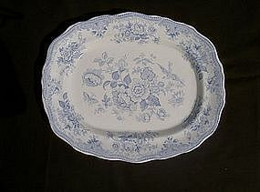 Blue & white Asiatic Pheasants platter