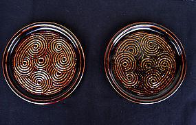 Scandinavian Gustavsberg stoneware dishes, 1960's