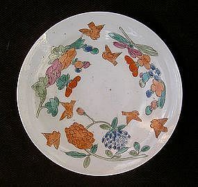 Eggshell Japanese Kakiemon style decorated saucer