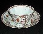 Kangxi tea bowl and saucer with Lange Lijzen