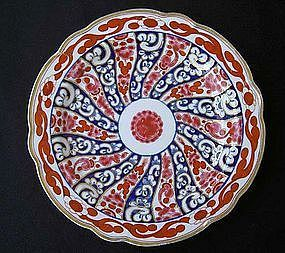 "Worcester ""Queen Charlotte"" pattern plate, Georgian"