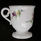 French 18th c sorbet cup, Porcelaine à la Reine