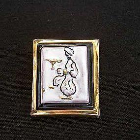 Vintage Aladdin ceramic pin