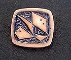 Vintage Zodiac ceramic pin