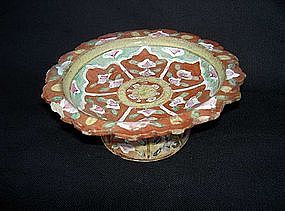 A Thai Benjarong stemmed dish, 18th century