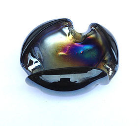 Murano black iridescent bowl