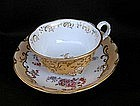 English mid 19th c footed tea cup and saucer