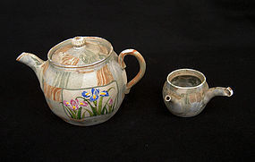 Banko ware Marble teapot and miniature pot