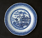 Canton blue and white plate, c 1840