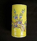 Chinese cylindrical vase in the style of Wang Bingrong