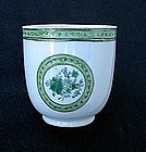 Chinese coffee cup with European style decoration