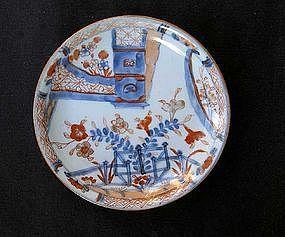 Chinese Export small Imari plate, Kangxi