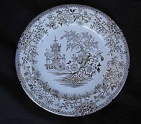 English (Welsh) plate by Primavesi, Victorian