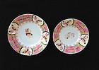 Staffordshire transfer printed saucer bowls