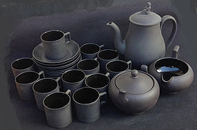 Wedgwood black basalt coffee service