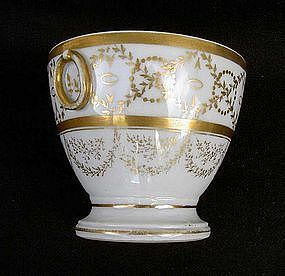 Paris porcelain First Empire sugar bowl