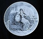 French transfer printed plate by Creil & Montereau