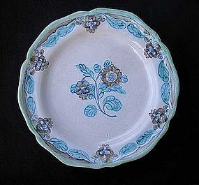 Pair of German faïence or Majolika plates