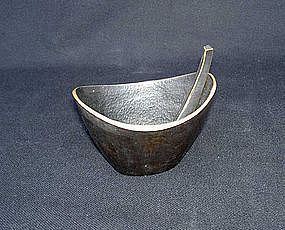 Austrian Baller bronze mortar and pestle, ashtray