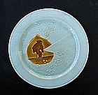 """French Aesthetic """"Email Ombrant"""" plate by Choisy-le-Roi"""