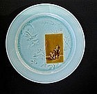 """French Aesthetic """"Email Ombrant"""" plates by Choisy-le-Roi"""