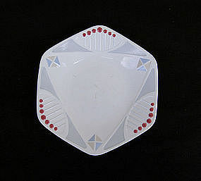 German Waechtersbach small plates, Jugendstil, c 1920