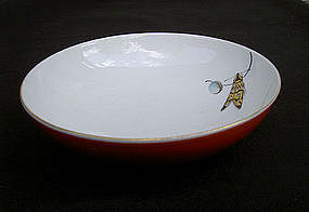 KPM Berlin bowl with a butterfly