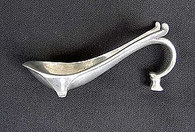 Scandinavian Deco pewter pipe rest