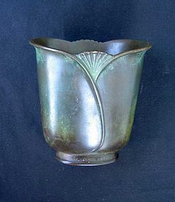 Danish Deco bronze vase by Just Andersen