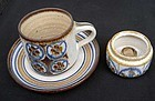Danish Marianne Starck candle holder, mug and saucer