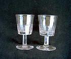 Pair of Georgian panel-cut wine glasses