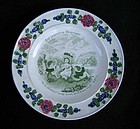 Child's plate with proverb, Georgian