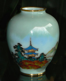 Japanese Cloisonne Vase with Wireless Enamel