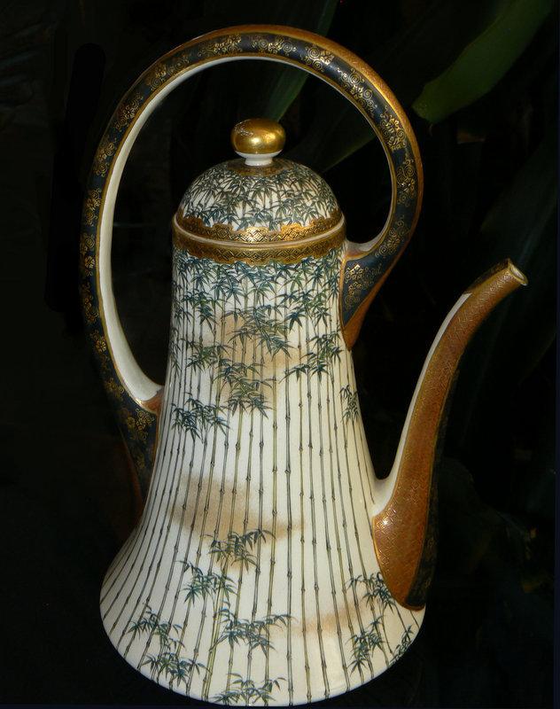 Large Japanese Satsuma Teapot - Kinkozan