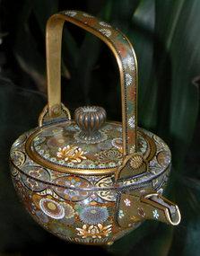 Exquisite Japanese Cloisonne Enamel Saki Pot