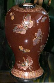 Japanese Namikawa Style Cloisonne Enamel Vase