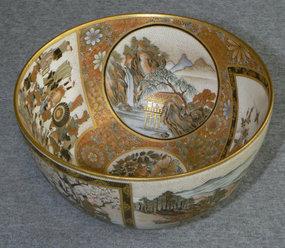 Fine Japanese Satsuma Bowl  - Shizan