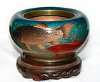 Japanese Cloisonne Enamel Bowl -  Ogasawara Shuzo